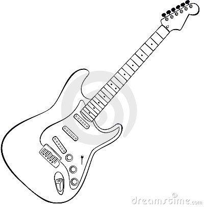 Rock Guitar Vector Guitar Tattoo Design Guitar Drawing Guitar Sketch