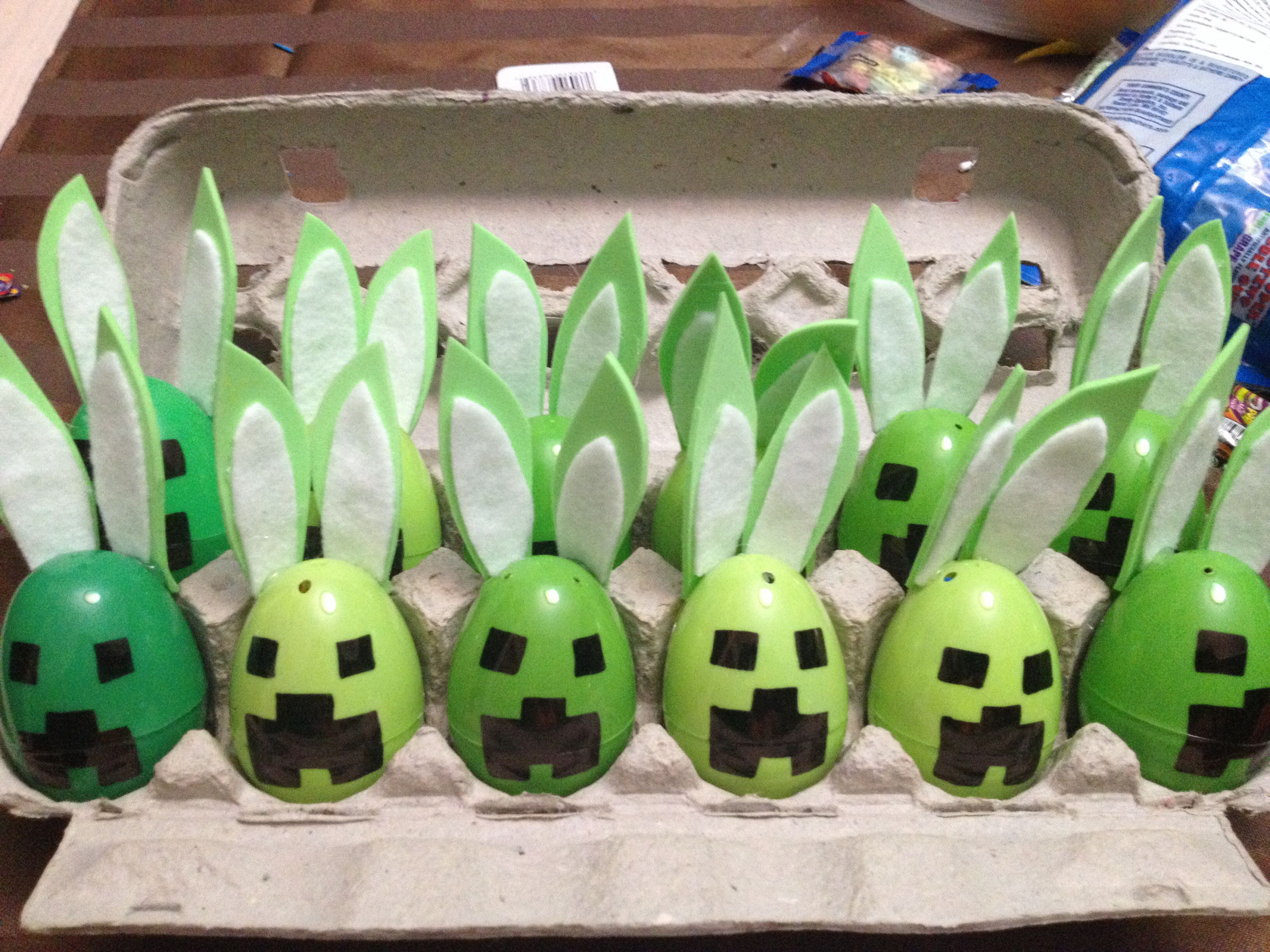 Easter Creepers Minecraft Minecraft Easter Eggs Creative Easter Eggs Easter Hunt