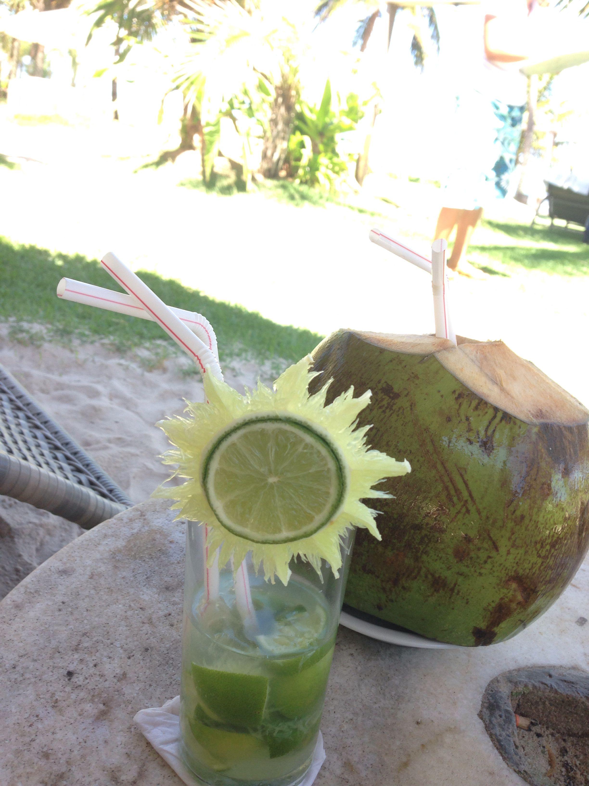 Caipi e água de coco