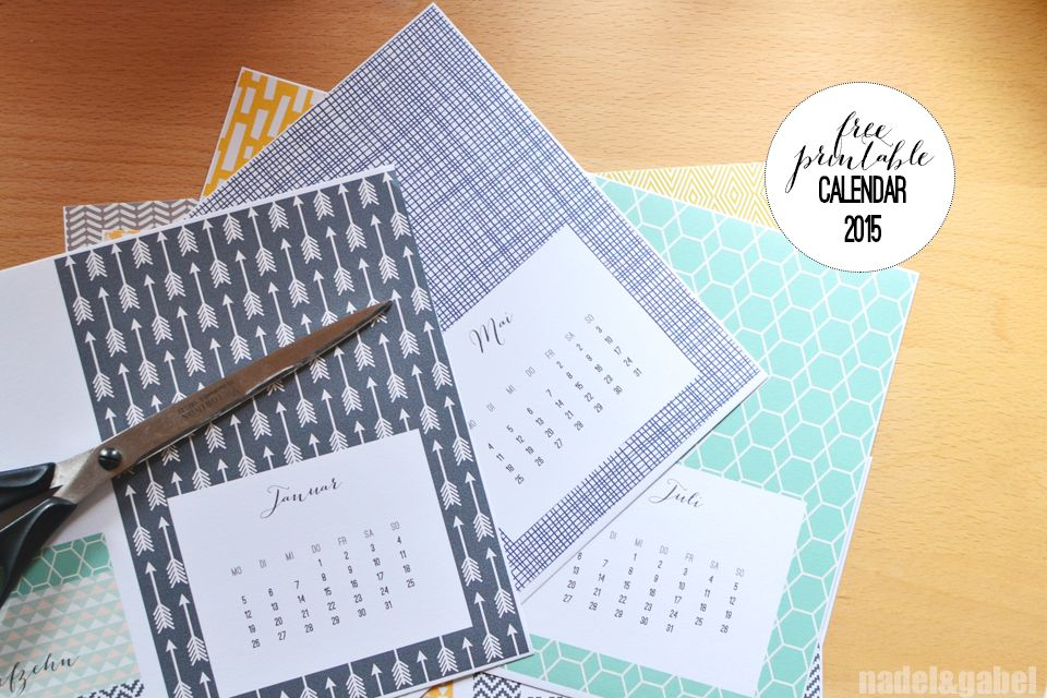 Into A Structured New Year Free Printable Calendar 2015