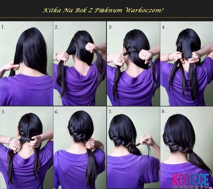 side ponytail with side braid