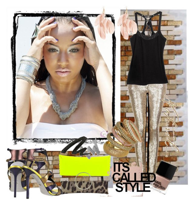 """""""Sans titre"""" by roseglama ❤ liked on Polyvore featuring IRO, G by Guess, Jimmy Choo, H&M, Elyse Jacob, Sergio Rossi, Flirt and Urban Decay"""