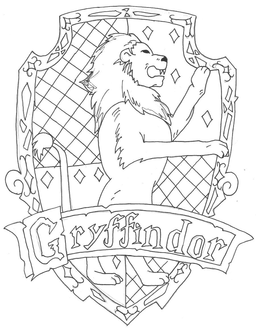 Gryffindor Wood Signs In 2019 Harry Potter Coloring Pages Harry