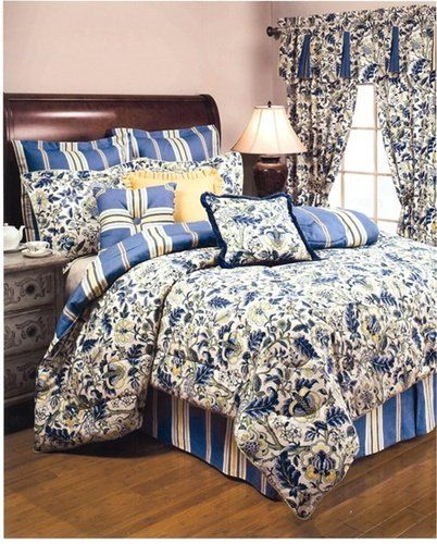 Imperial Dress Jacobean Floral Queen Bed Comforter Blue By Ellis Curtain 199 99 Old English Inspired Floral D Comforter Sets Waverly Bedding Luxury Bedding