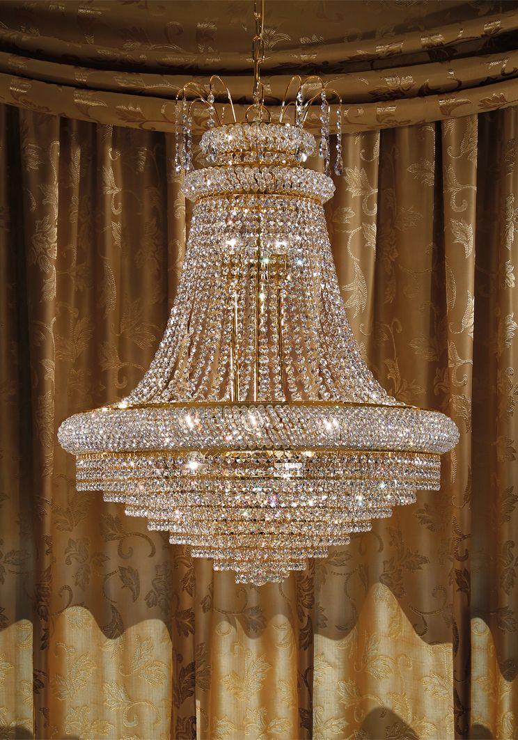 Lampadari Per Soggiorni Classici.Lampadario 12 Luci Luxury Crystal Arredo Luce