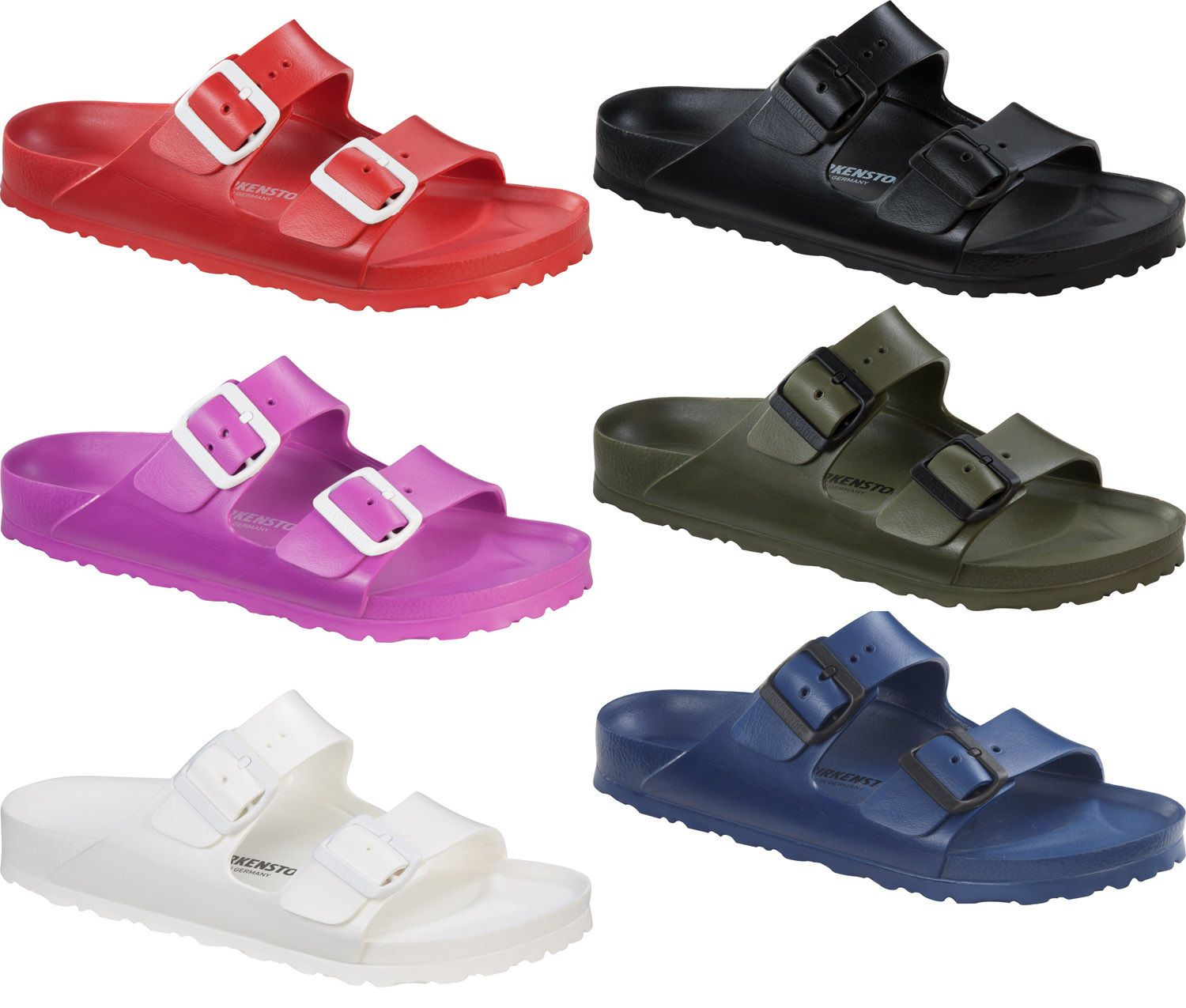 e4960d7e3b44 Birkenstock Arizona EVA Rubber Sandals Lightweight NEW Colors AND Sizes  Vegan