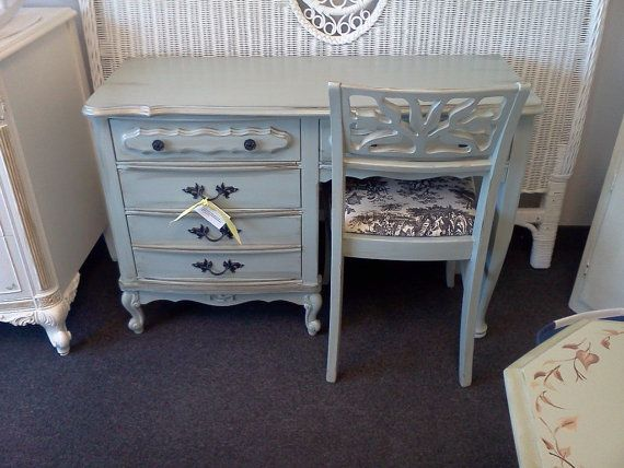 Slate blue desk
