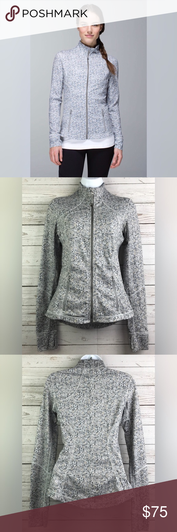"252efece48 Petite Fleur Silver Spoon. Size: 4 16.5"" underarm to underarm 25"" length  Great condition! No pilling. lululemon athletica Jackets & Coats"