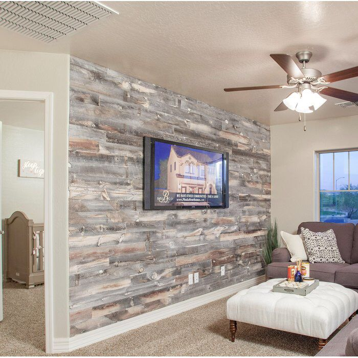 """5"""" Reclaimed Solid Wood Wall Paneling"""