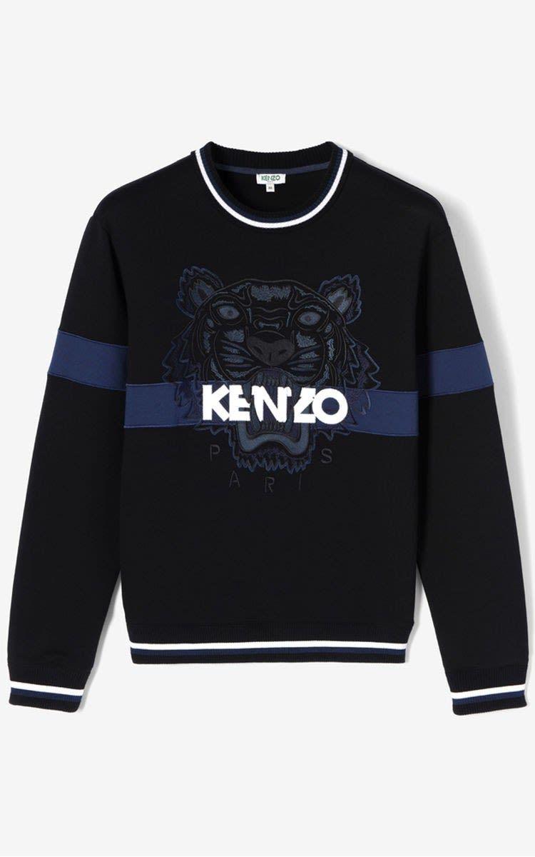 ee8578114f3f KENZO BLACK URBAN TIGER SWEATSHIRT.  kenzo  cloth