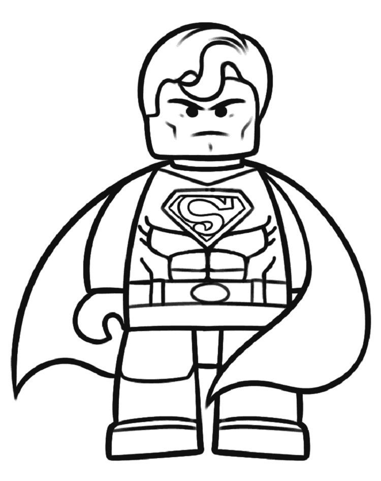 Lego Superman Coloring Pages Superhero Coloring Pages Lego Coloring Pages Superman Coloring Pages