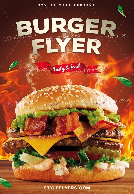 Burger PSD Flyer 19064 Burger menu, Food poster design
