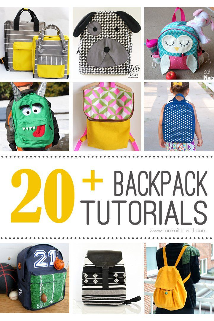 20+ DIY Backpack Tutorials (child and adult styles