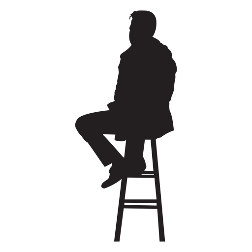 Man Sitting On Bar Stool Silhouette Ad Ad Sponsored Sitting Silhouette Stool Man Man Sitting Silhouette Man Silhouette