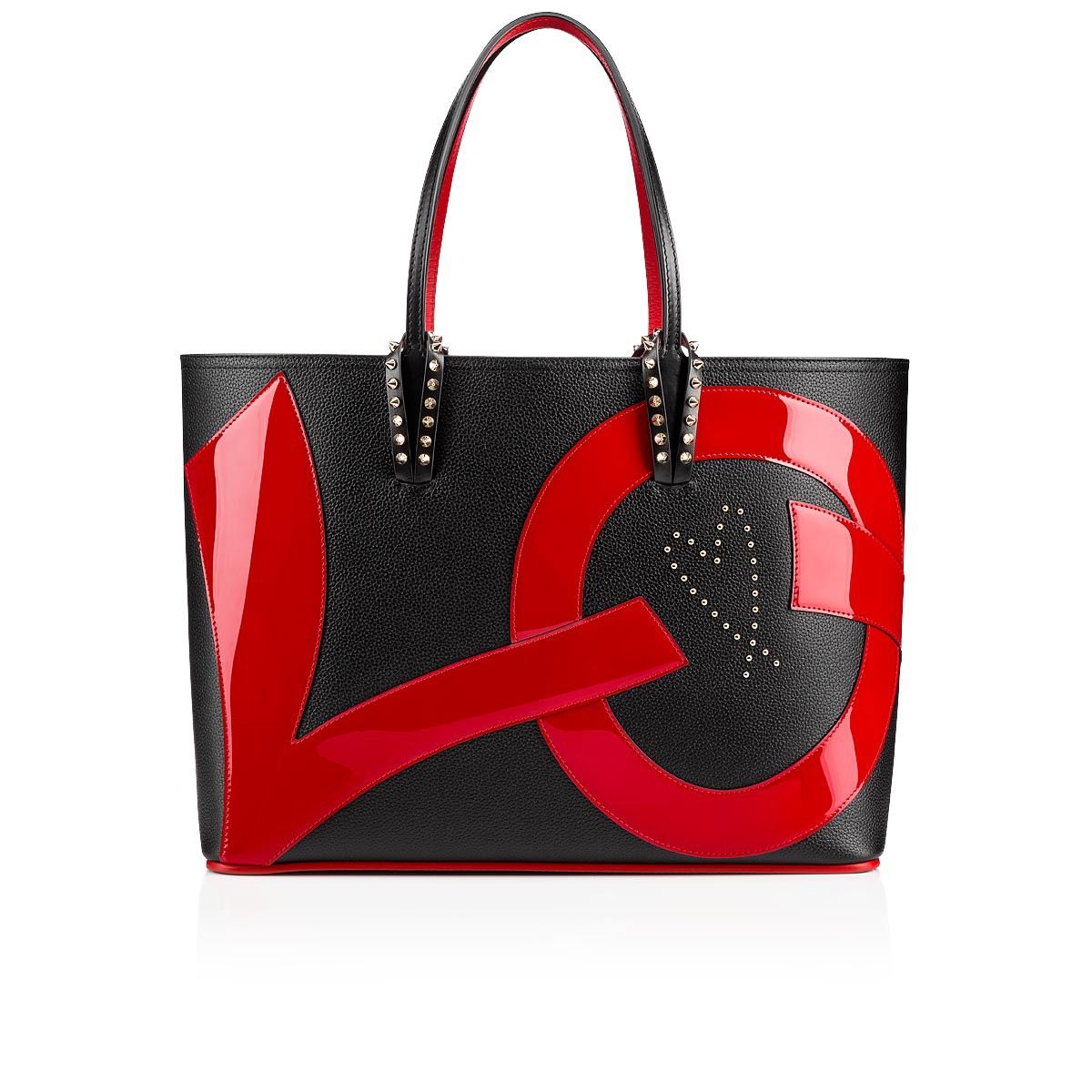 Christian Louboutin United States Official Online Boutique - Cabata Tote Bag  Black and Red Calfskin available online. Discover more Handbags by Christian  ... 0e3b95a8d87d1