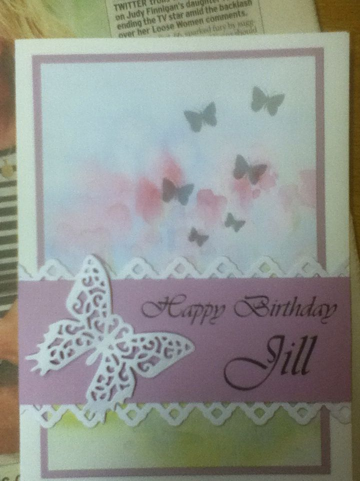 a simple card using serif spellbinders les papillion and