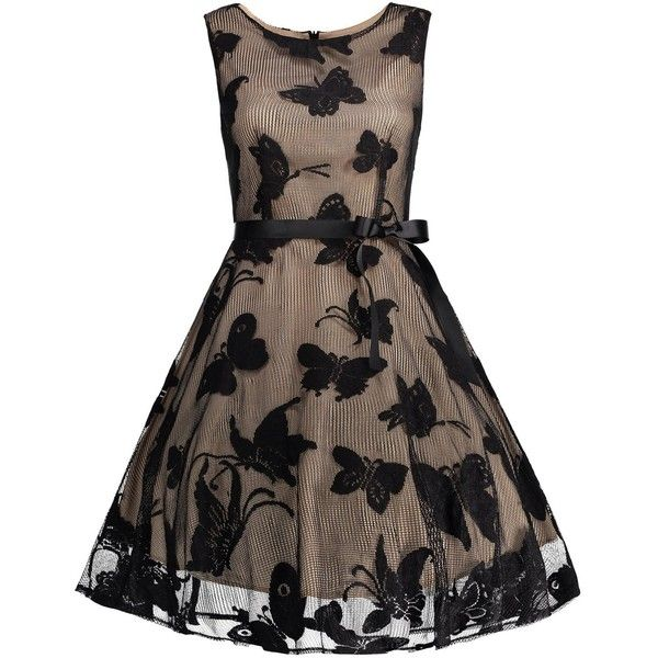 Plus Size Butterfly Jacquard A Line Prom Dress (€21) ❤ liked on ...