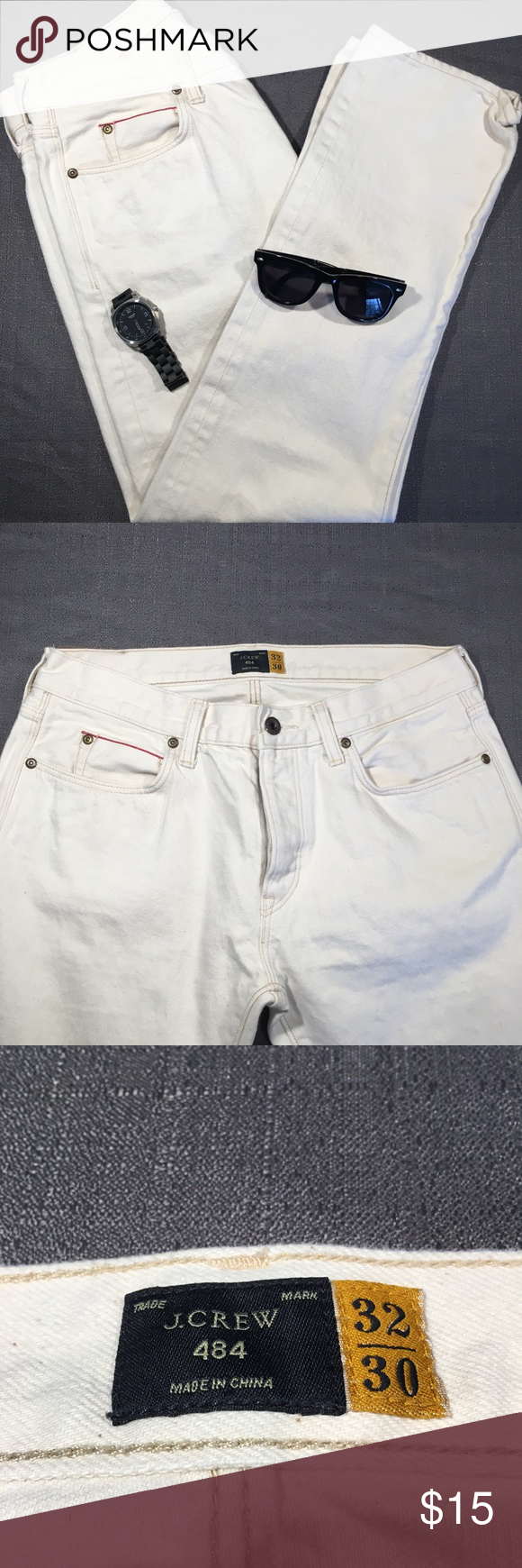 Men's Grunge White Denim J.Crew 484's - 32/30 Fresh and clean and perfect for any throwback outfit! Size 32/30 Grungey white denim  Great Condition  Smoke free home J. Crew Jeans Straight #throwbackoutfits Men's Grunge White Denim J.Crew 484's - 32/30 Fresh and clean and perfect for any throwback outfit! Size 32/30 Grungey white denim  Great Condition  Smoke free home J. Crew Jeans Straight #throwbackoutfits Men's Grunge White Denim J.Crew 484's - 32/30 Fresh and clean and perfect fo #throwbackoutfits