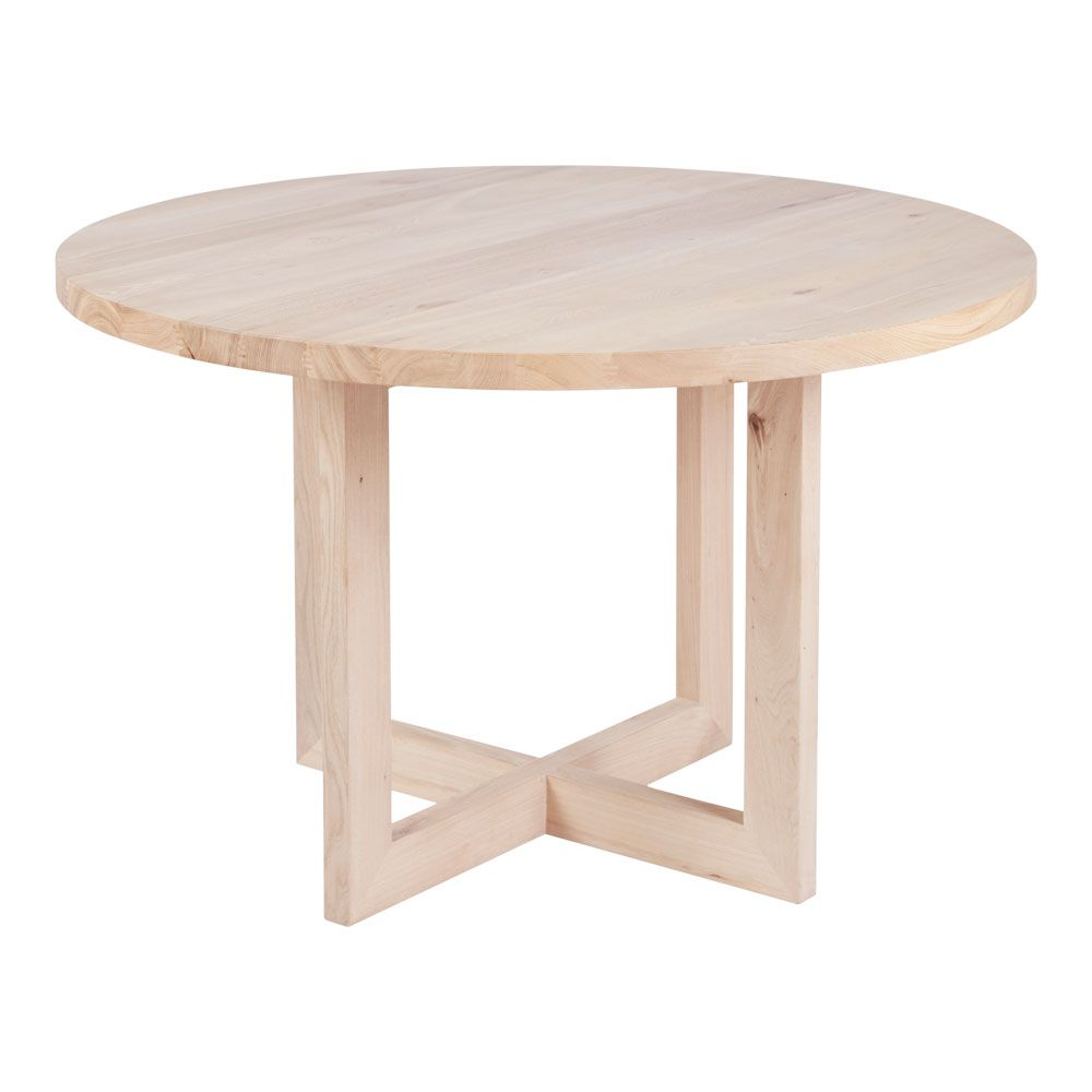 Designer Round Solid Oak Timber Dining Table Contemporary Furniture