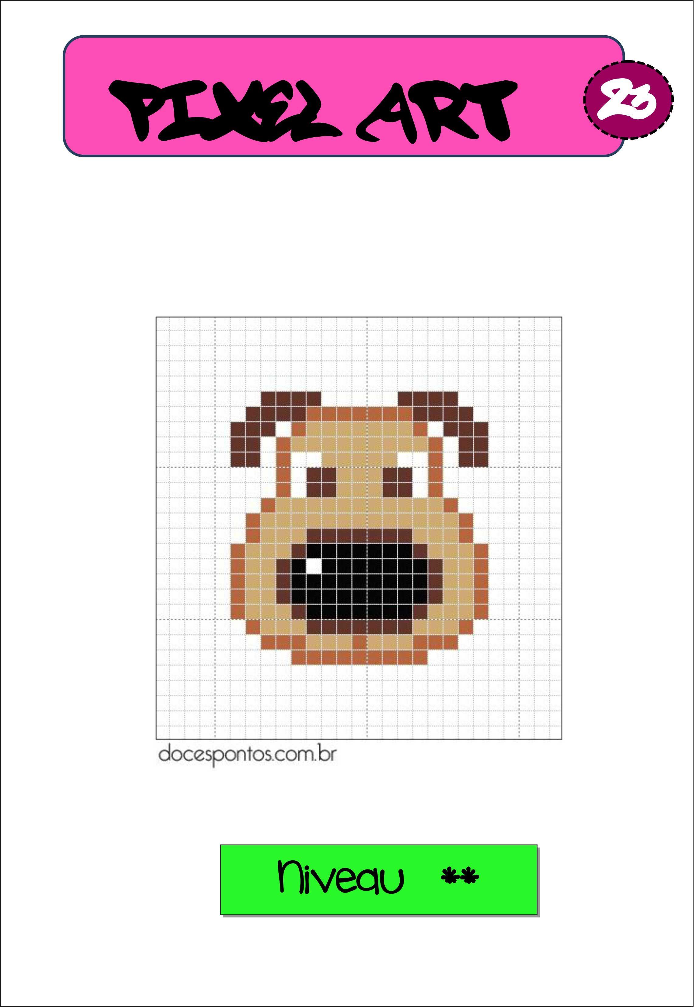 Pixel art autonomie reproduction sur quadrillage | pIXEL | Pinterest ...