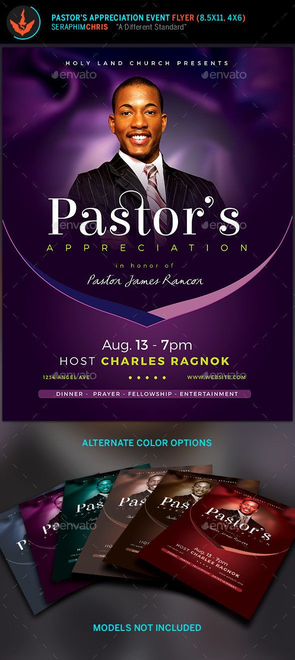 lavender pastor sappreciation church flyer template this church