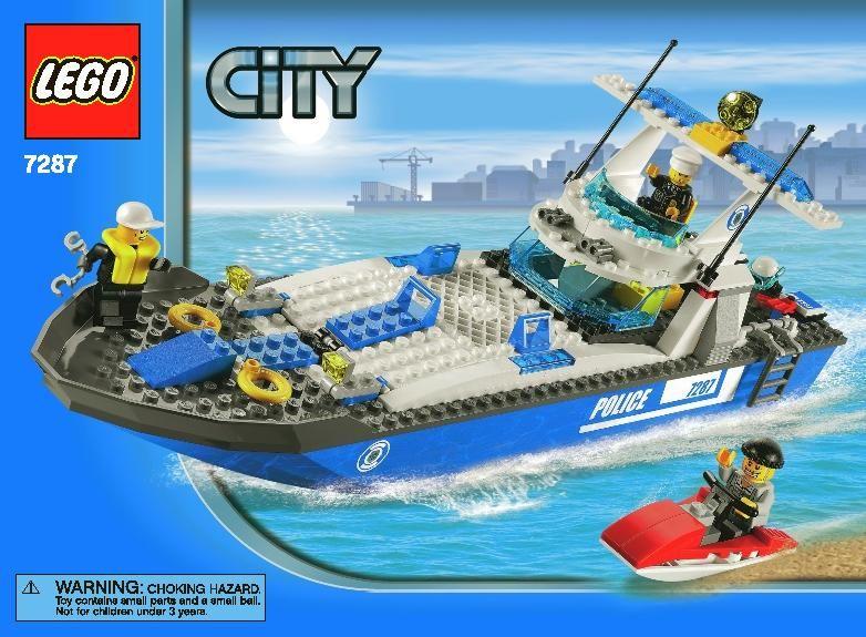 7287 1 Police Boat Instructions Lego Pinterest Legos