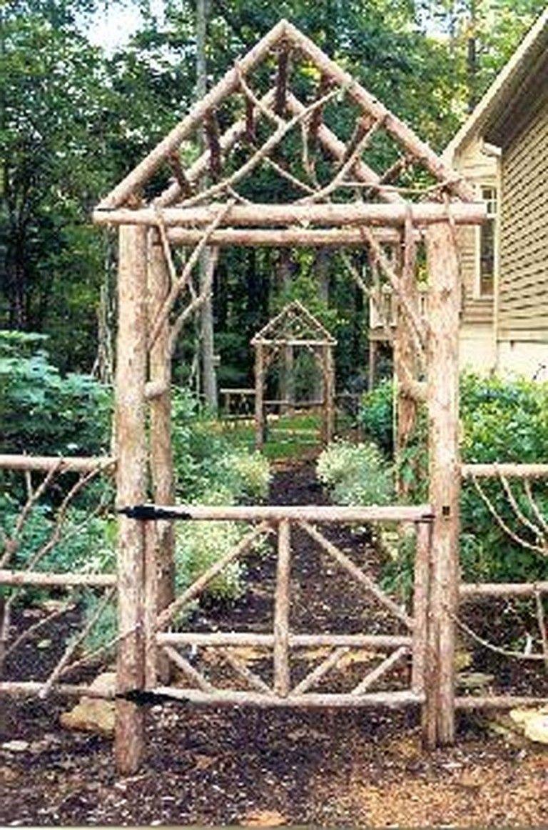 70 Fantastic Rustic Garden Gates Decor Ideas Landskapsforming