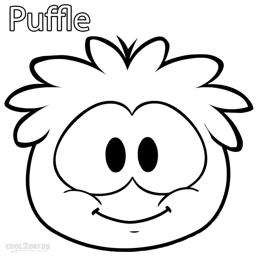 printable puffle coloring pages for kids cool2bkids