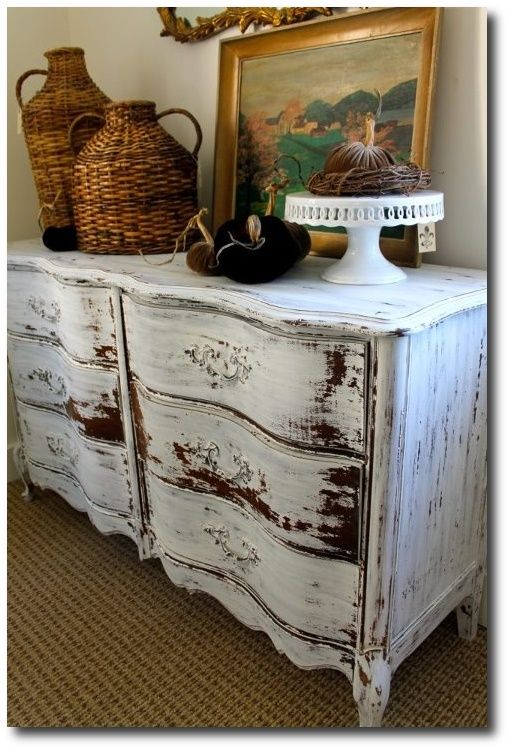 Miss Mustard Seed Milk Paint Ironstone  French Provincial Dresser At  Du0027Bohemia