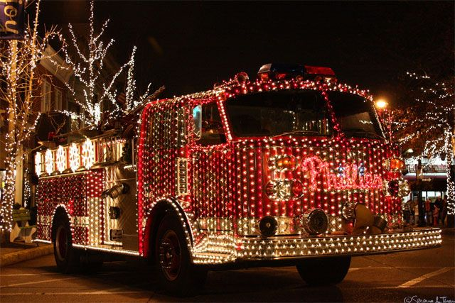 Seeing a fire truck with lights and sirens blaring is exciting. But, seeing  a fire truck decked out with Christmas lights too is even more fun to see. - Fire Truck Lighting And History Firegf Pinterest Fire Trucks