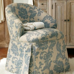 Josephine Damask Vanity Chair A Pretty Perch For The Vanity Or Sitting Room Josephine Is A Cozy Emb French Country Furniture Best Chairs Glider Vanity Chair
