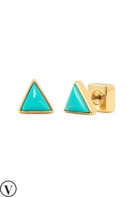 c99d12555 Bring some brightness into your wardrobe with these turquoise earrings. Shop  gold stud earrings, turquoise stud earrings