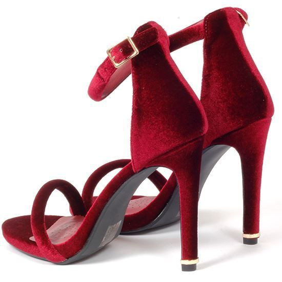 ce2ce1a326b8 Korkys Shoes - Ladies Strappy Heel - SOPHIE BURGUNDY