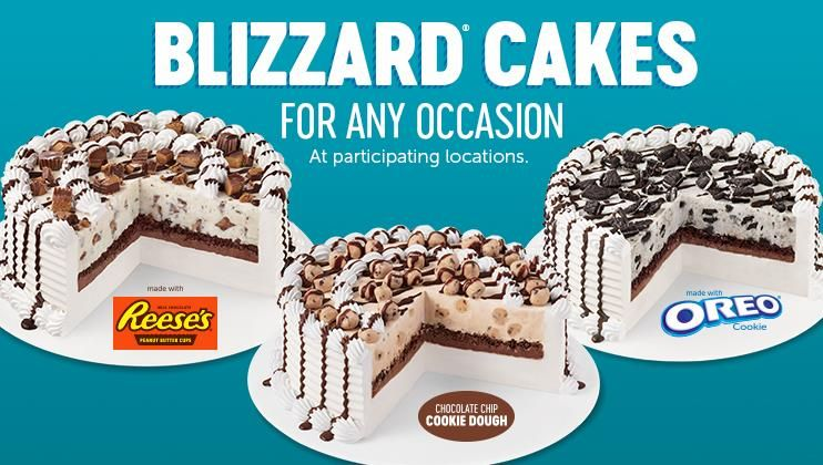 Dairy queen build a cake oreo stuffed chocolate chip