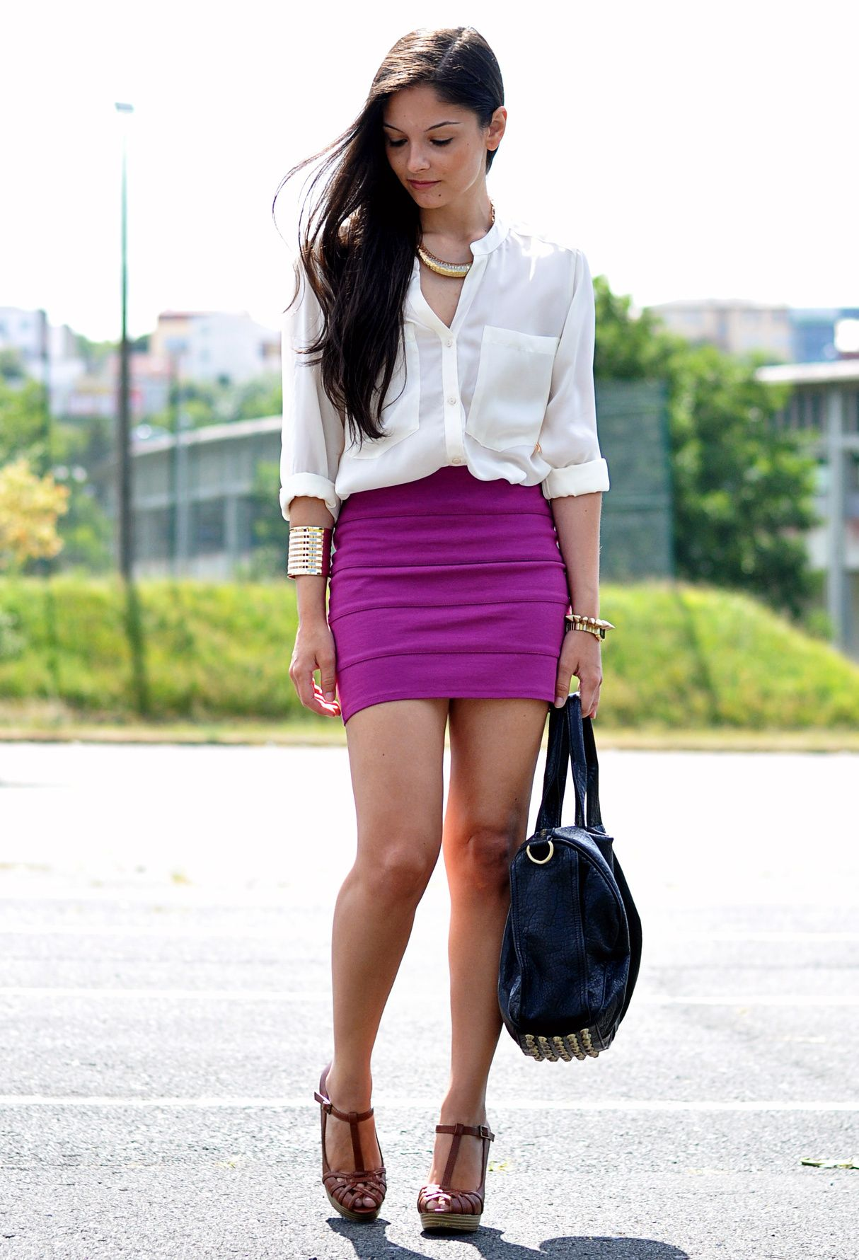 Skirt pencil outfits for teenagers photo