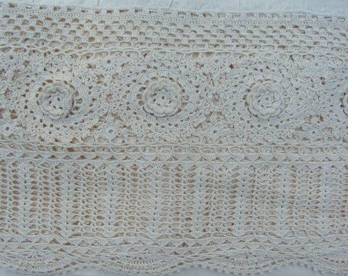 Battenburg Lace Bed Skirt Luxury Embroidery Ivory Lace