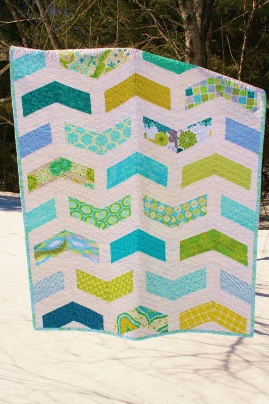 Chevron Baby Quilt Pattern Modern Quilt Pattern Instant Download
