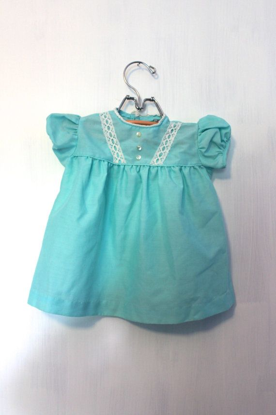 Sears Baby Clothes Vintage Sears Baby Girl Robins Egg Blue Dress Size 6 To 9 Months