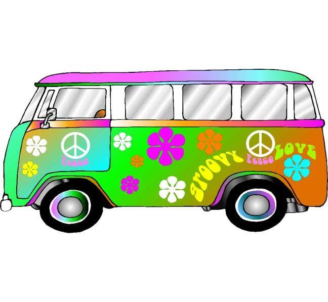 Hippie Retro VW Bus Photo Op Groovy Photo Op