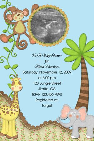 Baby Shower Invitations Safari Theme Wording | ... Invitations, Baby Shower  Invitations,