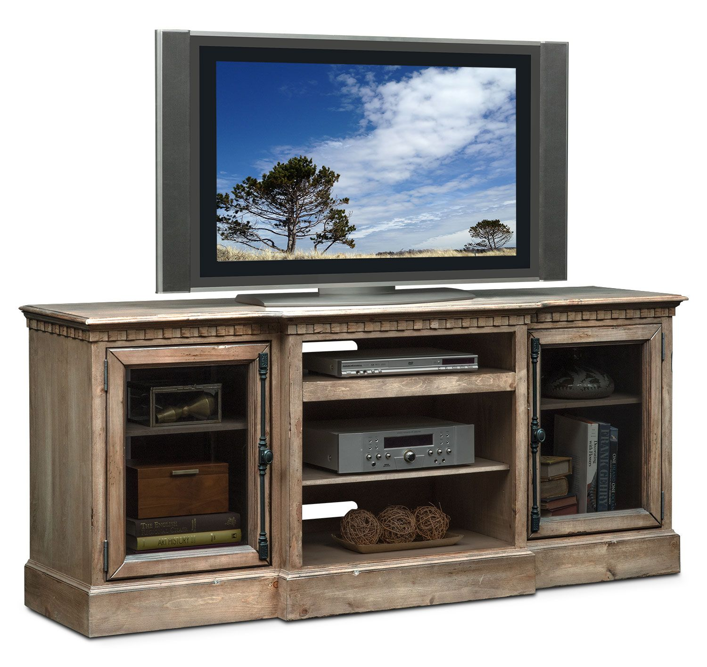 "Entertainment Furniture Claridge 74"" Media Stand Gray"