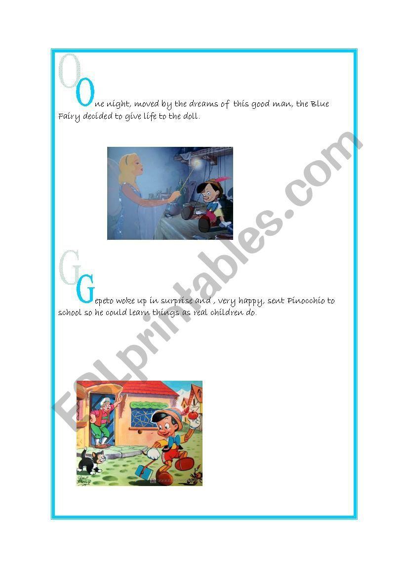 Pinocchio Worksheet Reading Worksheets Pinocchio Worksheets [ 1169 x 826 Pixel ]