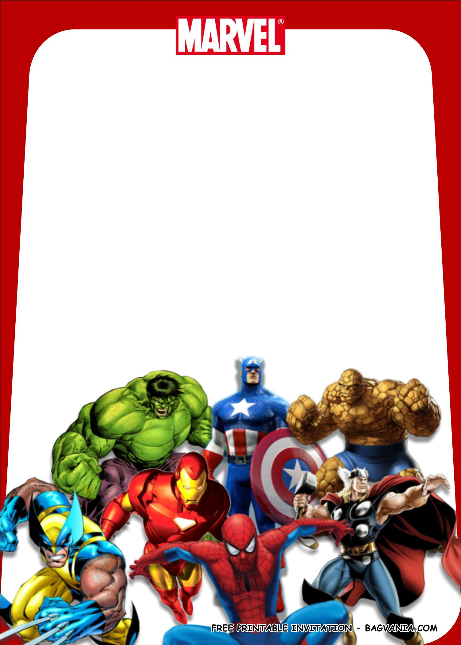 Superhero Birthday Card Template in 7  Superhero invitations