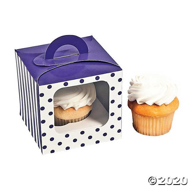 Polka Dot Cupcake Box With Handle Oriental Trading In 2020 Polka Dot Cupcakes Cupcake Boxes Cupcake Boxes Template