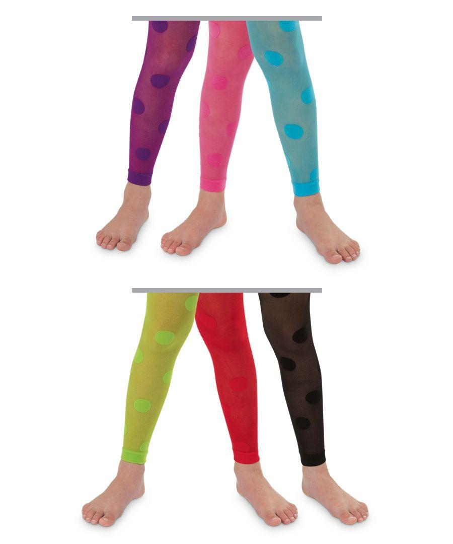 Jefferies Socks Girls  Dotty Footless Tights