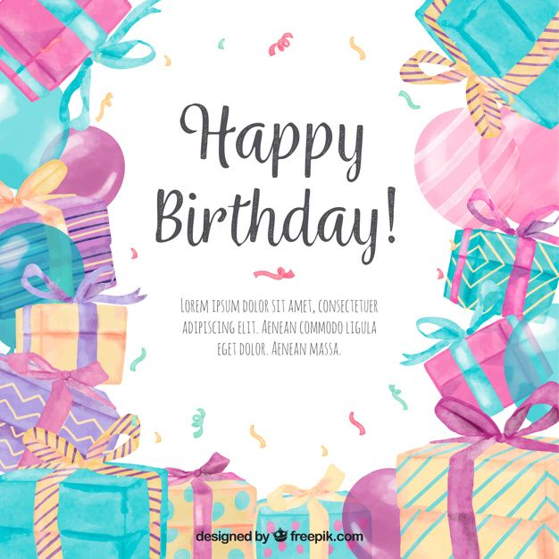 Download Pretty Watercolor Gifts Background For Free Happy Birthday Girls Happy Birthday Cards Birthday Images