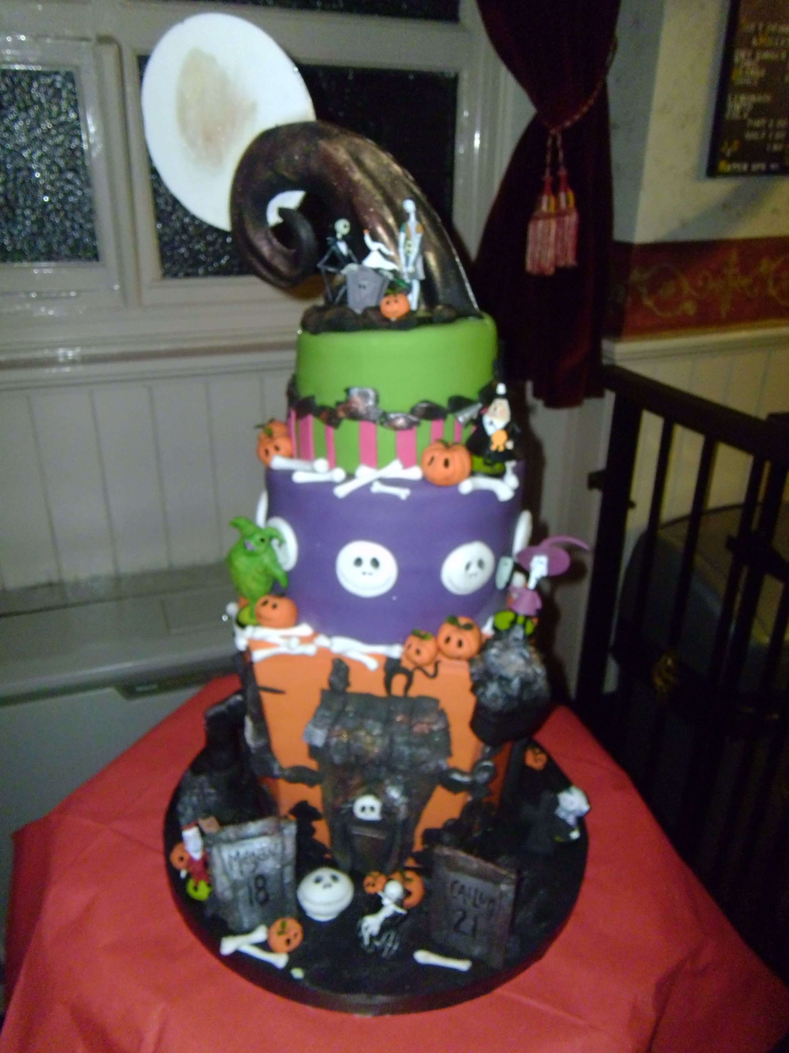 A Nightmare Before Christmas Birthday Cake Made For My Son