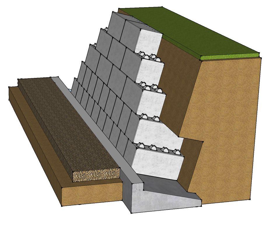 Inclined Block Retaining Wall Blockwalls Retaining Wall Concrete Blocks Retaining Blocks