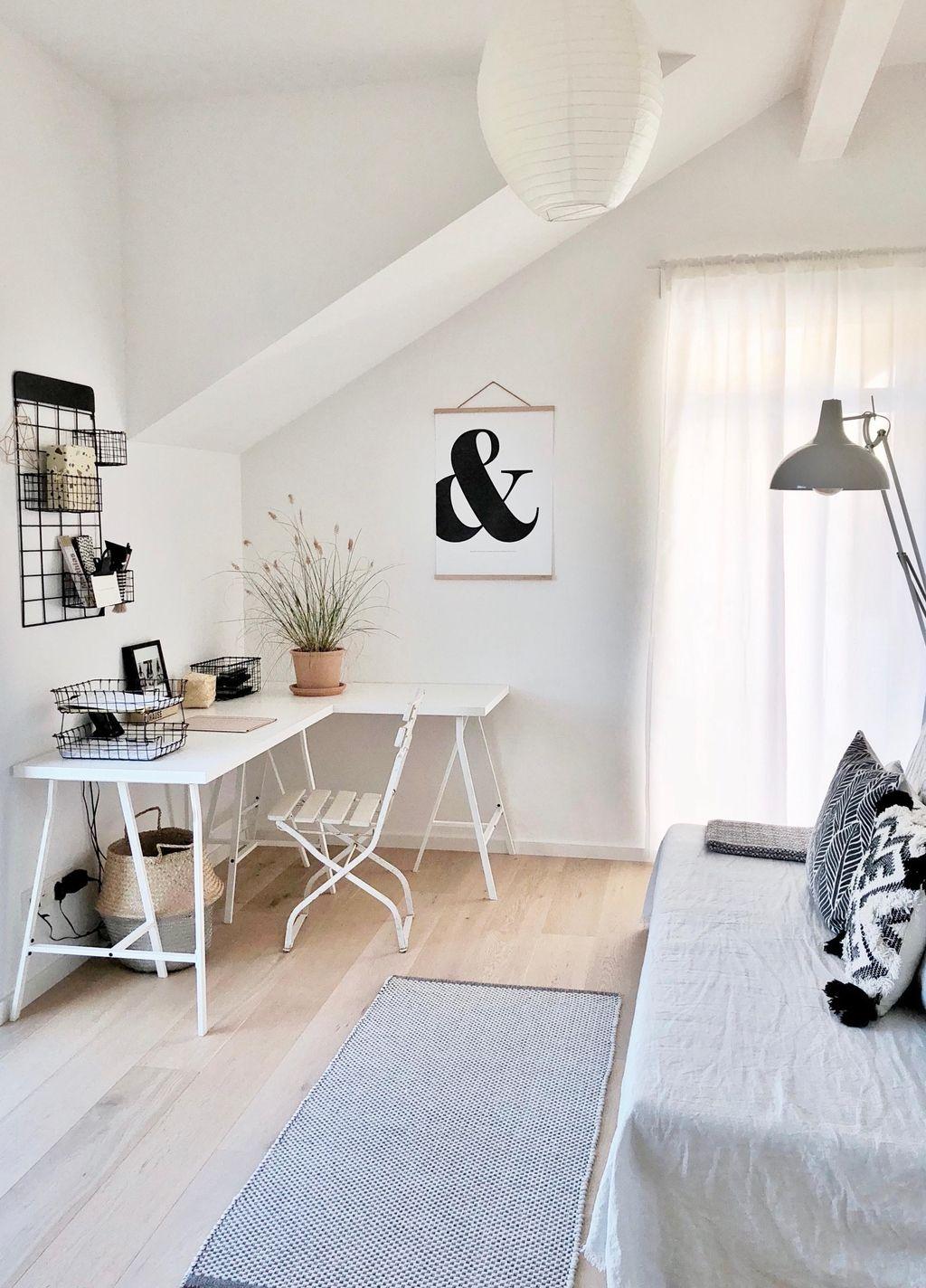 Simplylifeandme Kombiniert Geschickt Das Arbeitszimmer Mit Dem Gastezimmer Entdecke Noch Mehr Wohnideen Auf Cou Gastezimmer Einrichten Zimmer Ankleide Zimmer