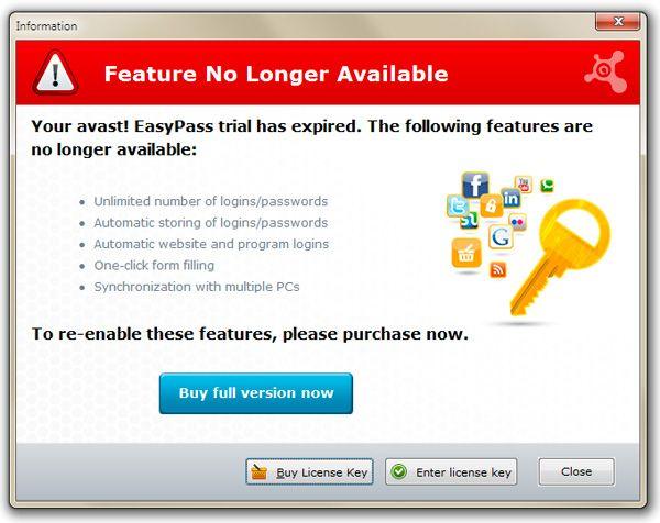 avast key features